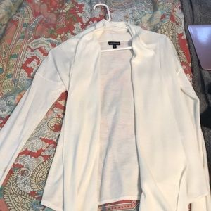Express white draped sweater
